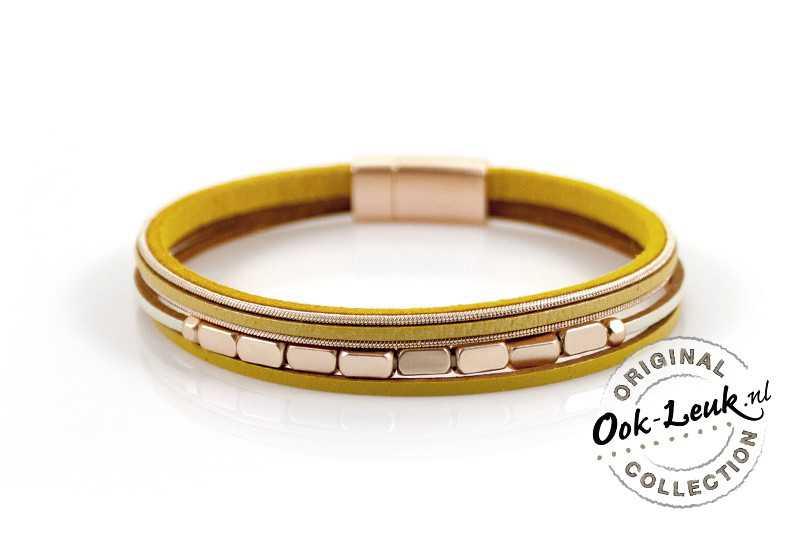 Speelse gele armband